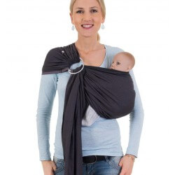 Hoppediz Ring Sling London Noir Gris